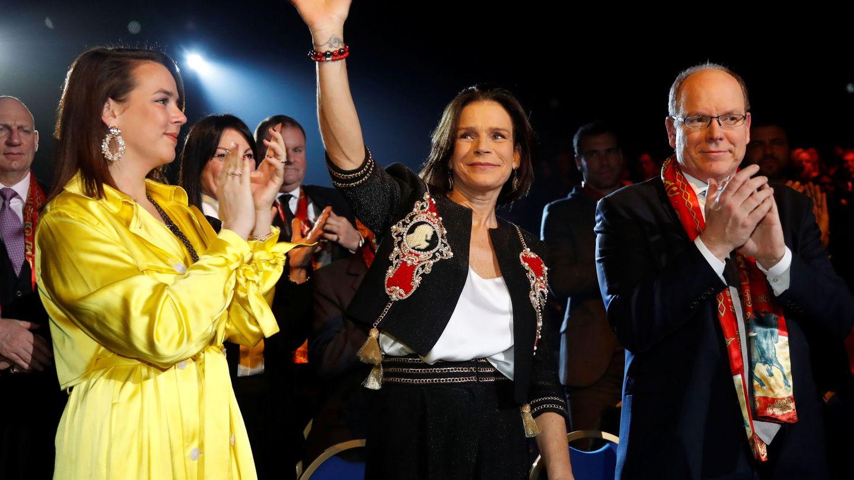 Estefanía, Alberto y Pauline Ducruet, en la última edición del Festival Internacional de Circo de Montecarlo. (EFE)