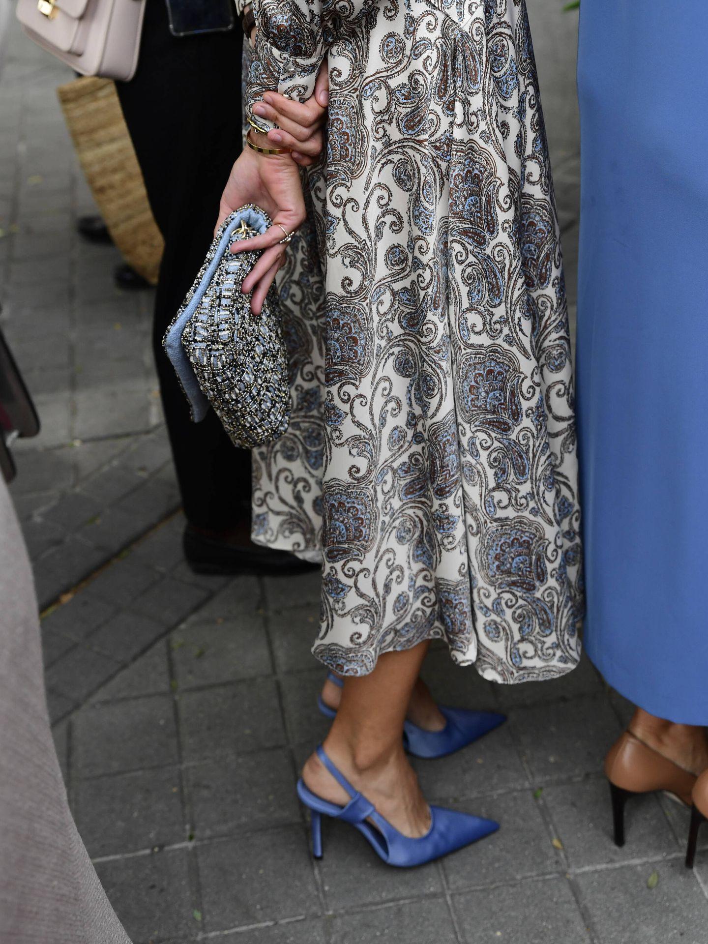 Detalle del bolso y los zapatos de Mercedes Domecq. (LP)