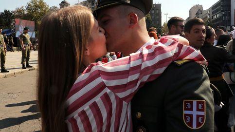 Ceremonia de graduación en escuela militar de Belgrado