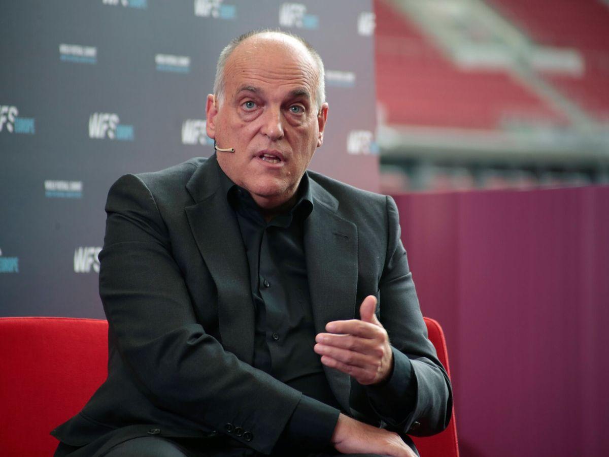 Foto: Javier Tebas, durante un evento celebrado en Madrid. (EFE)
