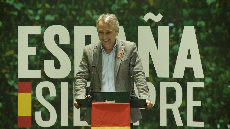 Foto: Rubén Manso, en un mitin de este mes de octubre en el hotel Barceló de Málaga