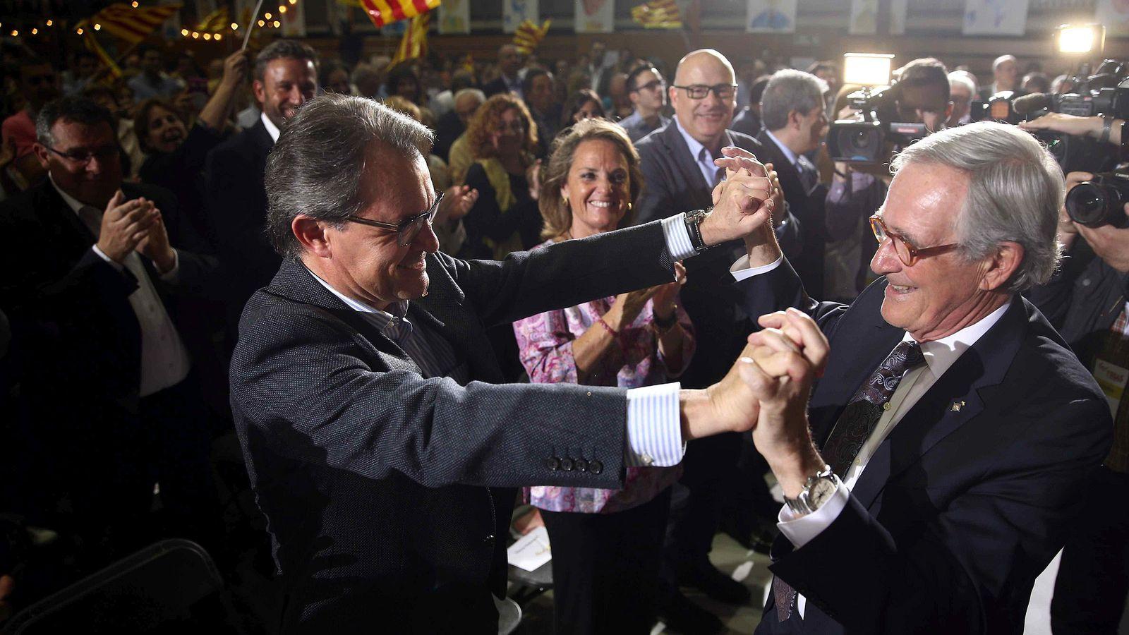 Foto: Xavier Trias y Artur Mas (i), al inicio de la campaña electoral en marzo de 2015 en Barcelona. EFE