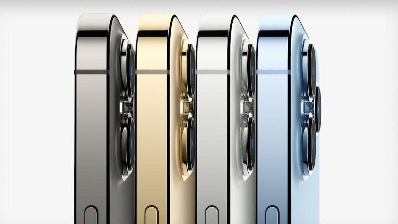 Foto: Vista de los iPhone 13 Pro. Foto: Apple.