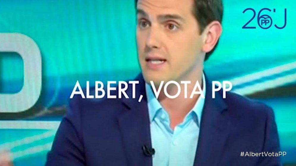 Foto: Captura de pantalla del nuevo vídeo del PP pidiendo el voto a Albert Rivera