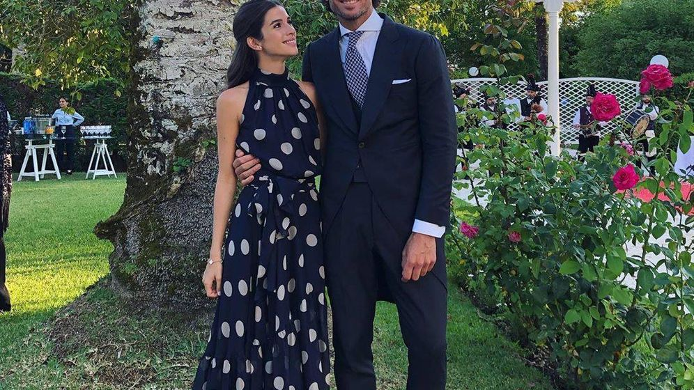 Foto: Sandra y Feliciano durante la boda. (Redes)