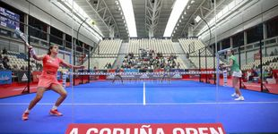 Post de El A Coruña Open de pádel entra en su recta final con puntos increíbles