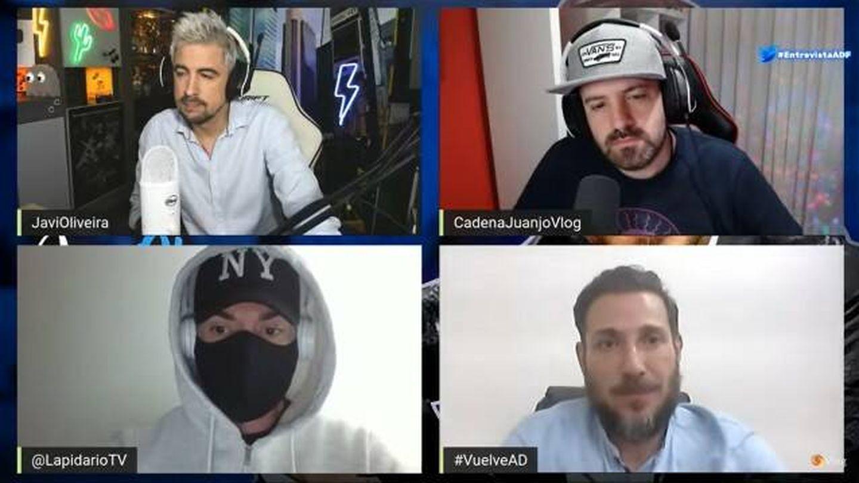 Antonio David Flores, durante su última entrevista en el canal de YouTube CadenaJuanjoVlog. (YouTube)