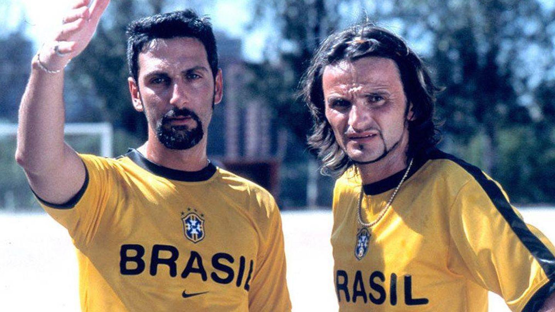 Ernesto Alterio y Fernando Tejero, en 'Días de fútbol'. (Disney)