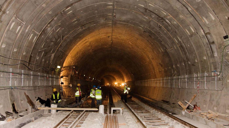 Obras del metro de Lisboa, en las que ha participado Ecisa. (Ecisa)