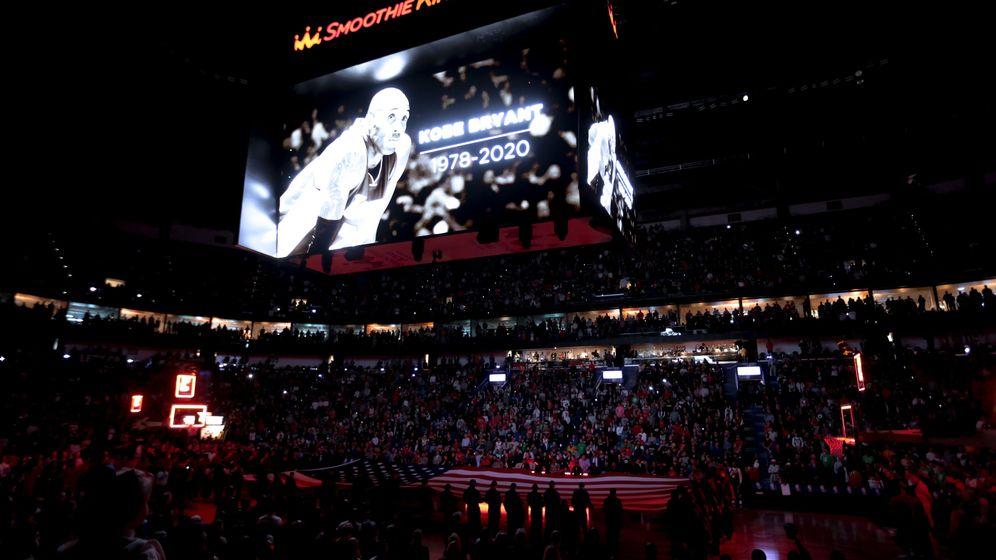 Foto: Los homenajes a la figura de Kobe Bryant se sucedieron en los partidos de la NBA (Derick E. Hingle-USA TODAY Sports)