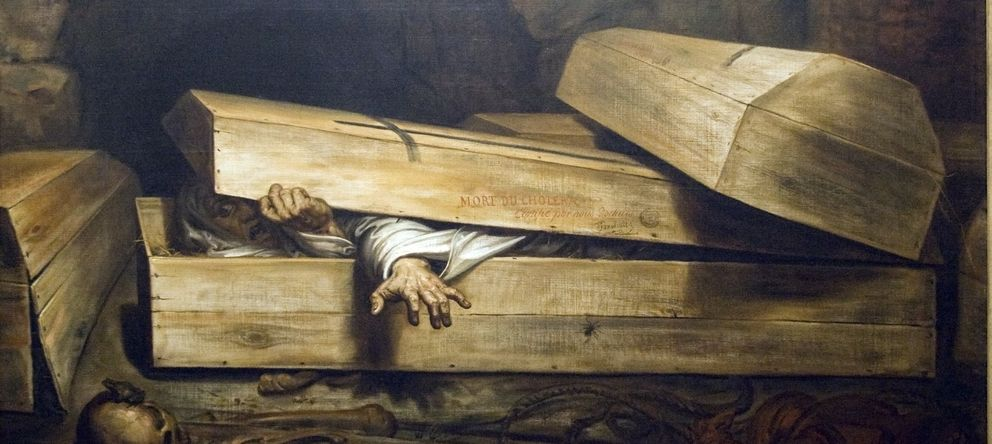 Foto: 'L'inhumation precipitée' de Antoine Wiertz. (Szilas)