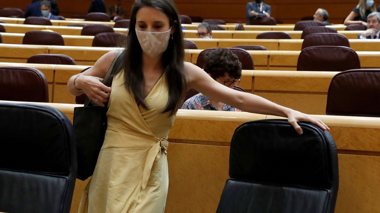 Irene Montero, en el Senado. (EFE)