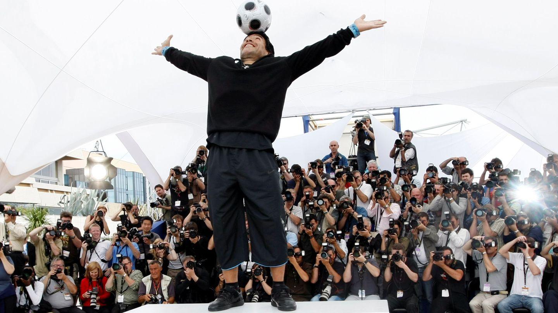 Maradona, durante la presentación de la película en Cannes. (Reuters)