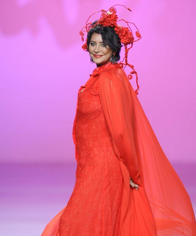 Foto: La modelo durante un desfile de Francis Montesinos