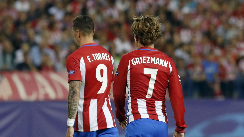 Foto: Fernando Torres y Griezmann, en una imagen de archivo. (EFE)