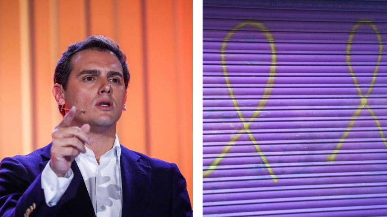 Rivera denuncia nuevas pintadas en el comercio de su madre en Cataluña
