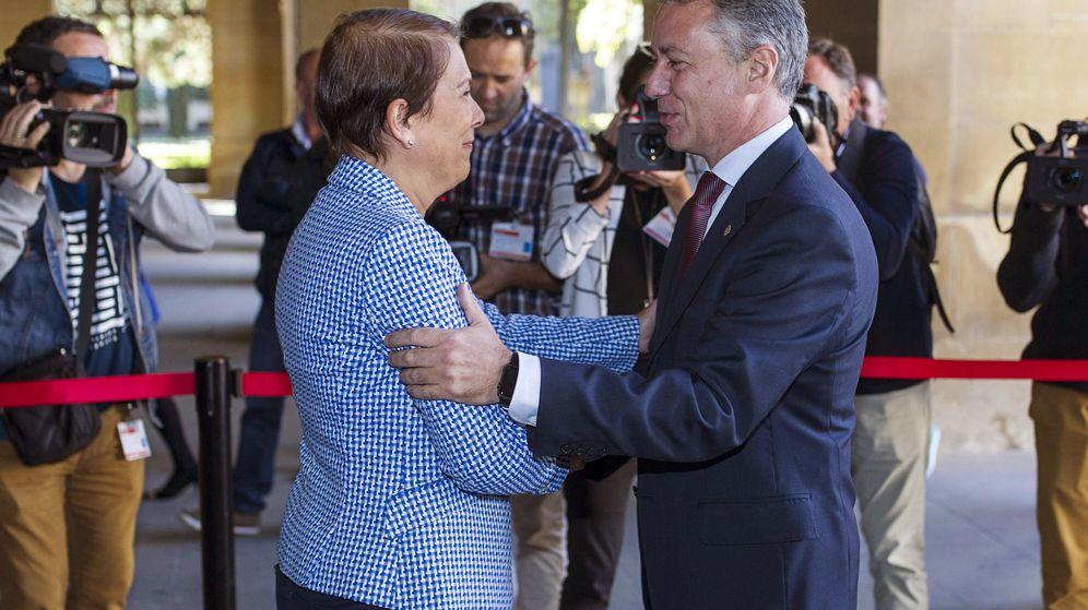 Foto: El lehendakari, Iñigo Urkullu, y la presidenta de Navarra, Uxue Barkos. (EFE)