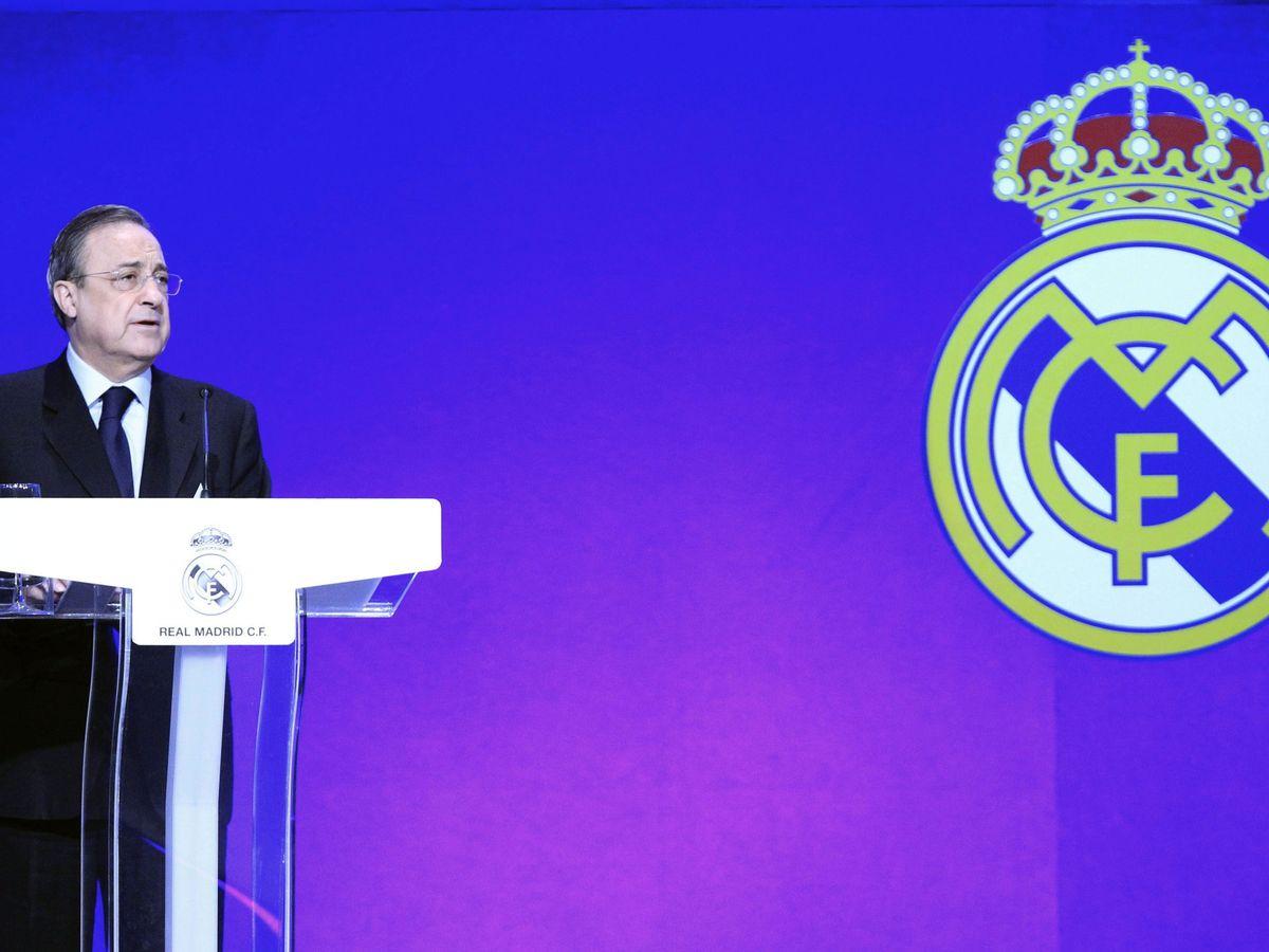 Foto: Florentino Pérez, durante un acto con socios del Real Madrid. (EFE)