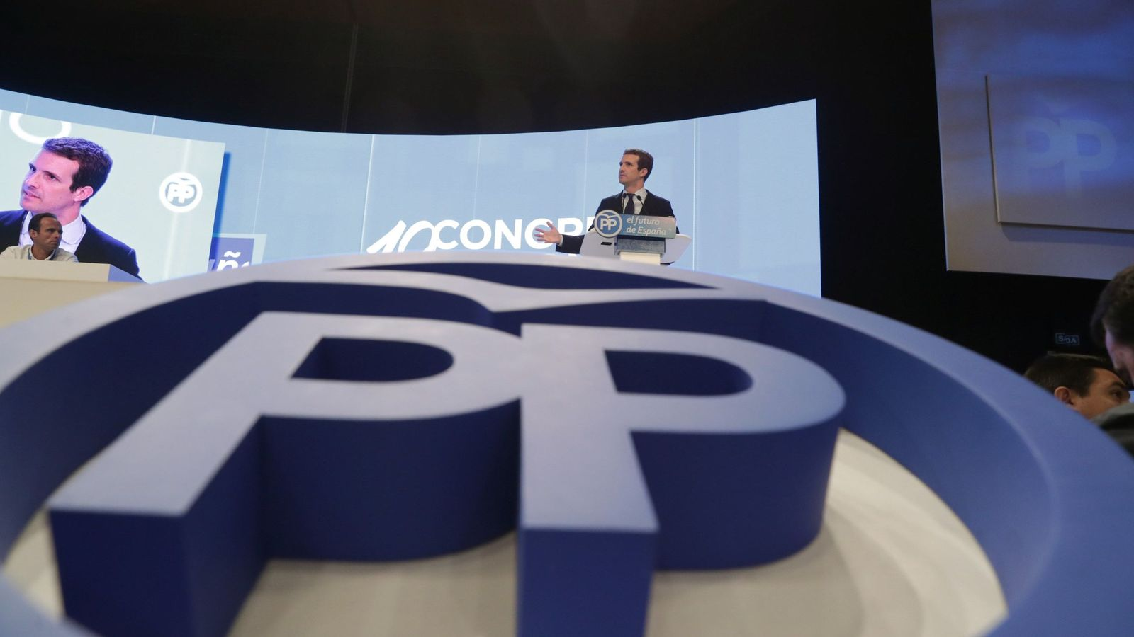 Foto: Pablo Casado tras ser elegido presidente del PP. (EFE)
