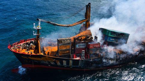El carguero de poliestireno hundido en Sri Lanka está envenenando el mar