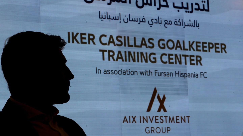 Casillas, en la presentación de su escuela deportiva en Dubái. (EFE)