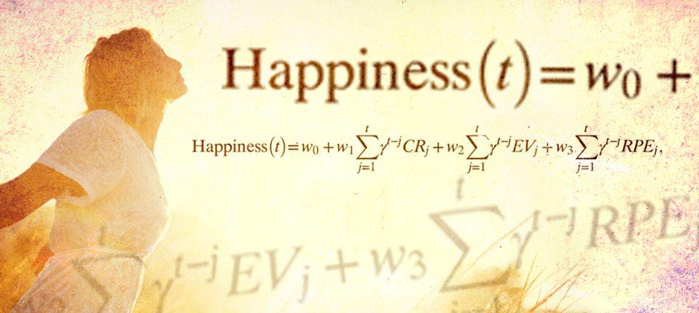 Foto: La ecuación de la felicidad desarrollada por Robb Rutledge y su equipo. (E. Villarino)