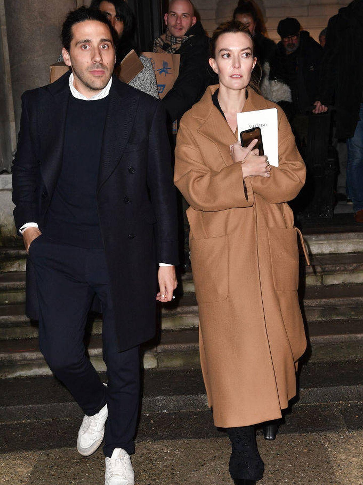 Marta Ortega y Carlos Torretta en la Semana de la Moda de París. (Getty)
