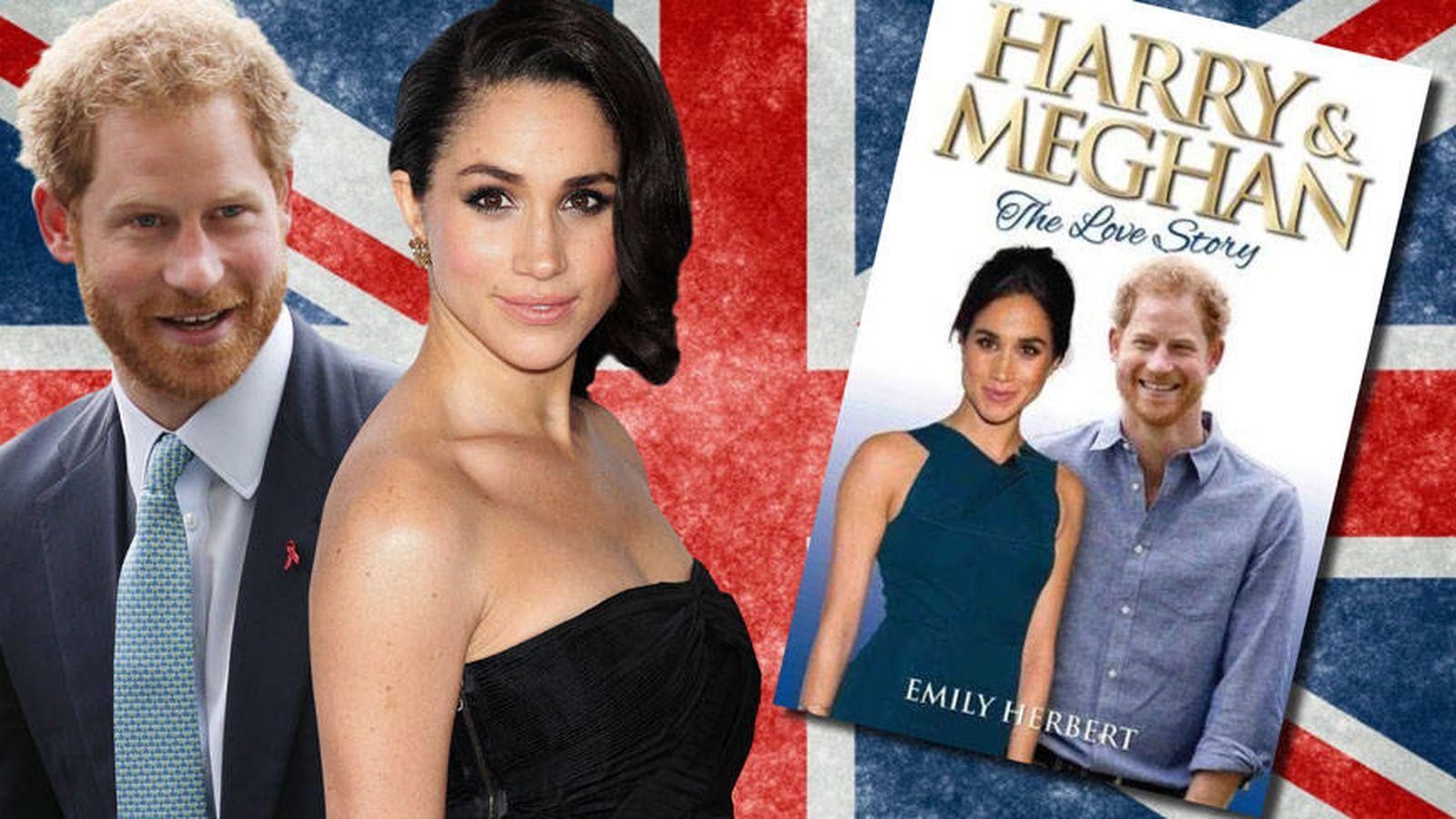 Foto: Harry, Meghan y la portada de su biografía. (Vanitatis)