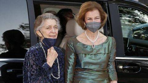 La reina Sofía vuelve a la catedral en la que se casó y luce un collar muy especial en la boda de Philippos y Nina Flohr