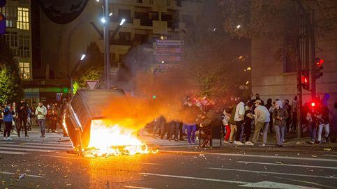 Disturbios en Logroño, con contenedores quemados y piedras a la Policía