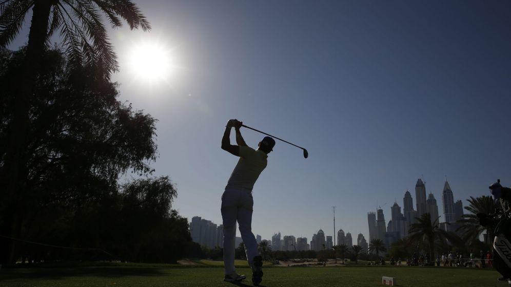Foto: Rafa Cabrera Bello durante el torneo de Dubai (EFE).