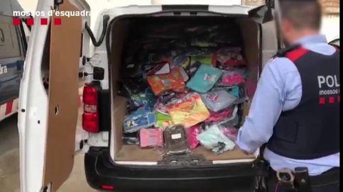 Detenido un hombre en Barcelona por robar 5.000 mochilas escolares