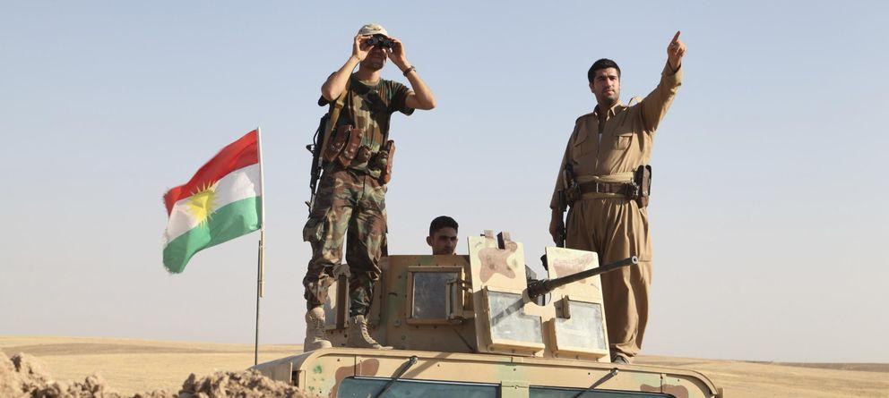 Foto: Fuerzas peshmerga en el frente. (Reuters)