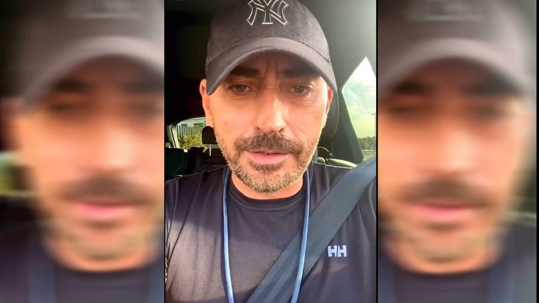 Diego Arrabal, en su último vídeo de Instagram.