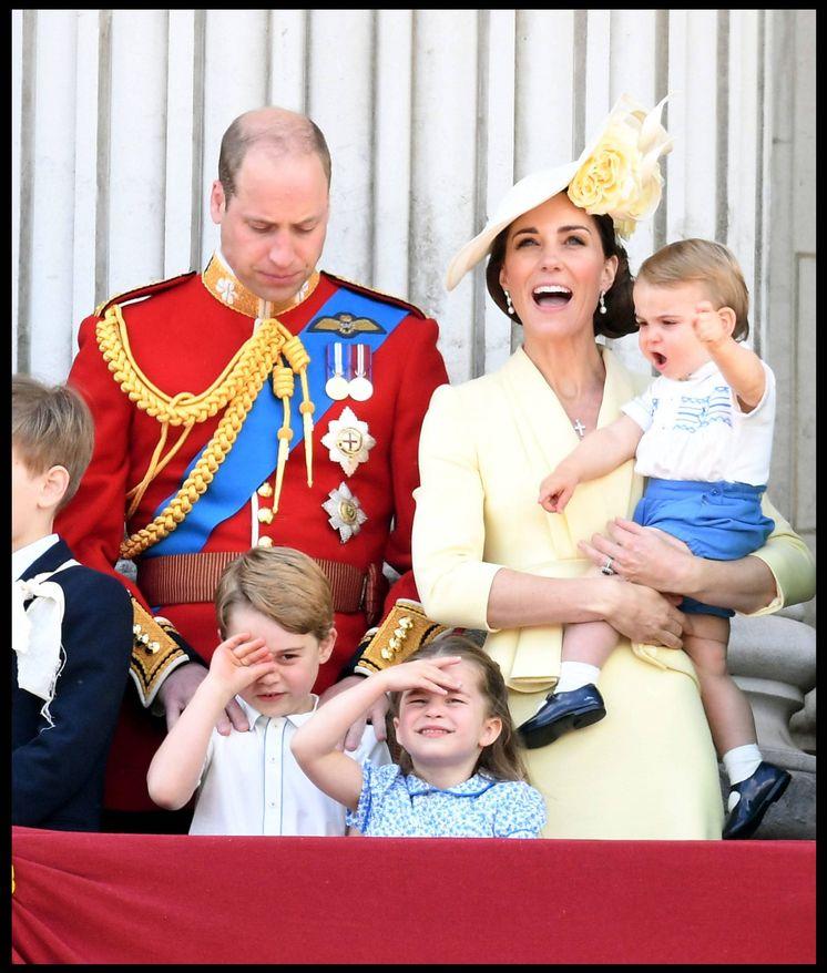 Foto: Los Cambridge y sus hijos en el 'Trooping the Colour 2019'. (Cordon Press)