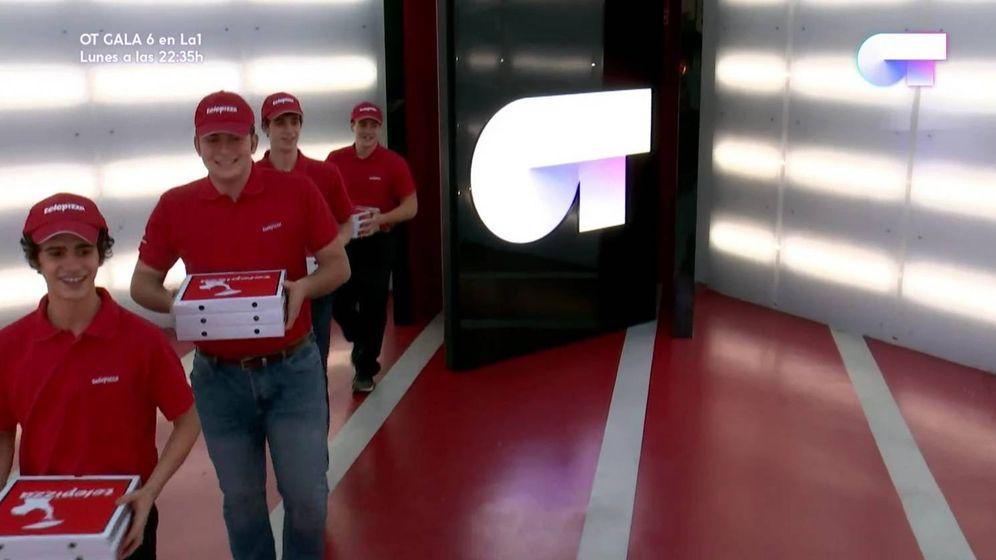 Foto: Repartidores de Telepizza en 'Operación Triunfo 2017'.