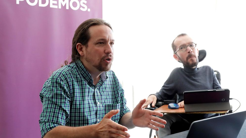 Foto: Pablo Iglesias y Pablo Echenique. (EFE)