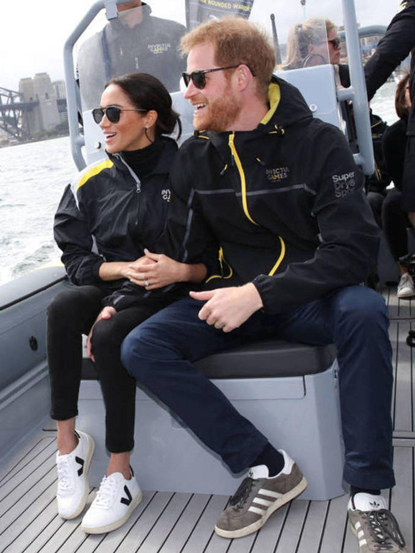 Meghan Markle y el príncipe Harry, en Australia en una imagen de archivo. (Getty)