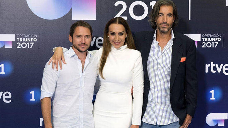 Manuel Martos, Joe Pérez-Orive y Mónica Naranjo.