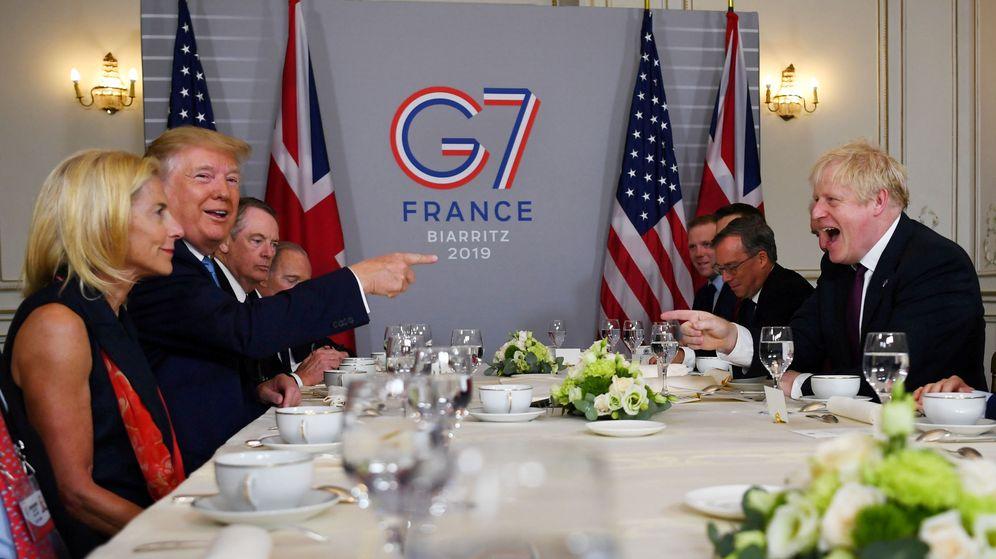 Foto: Reunión bilateral entre el 'premier' británico Boris Johnson y Donald Trump, presidente de los Estados Unidos. (Reuters)