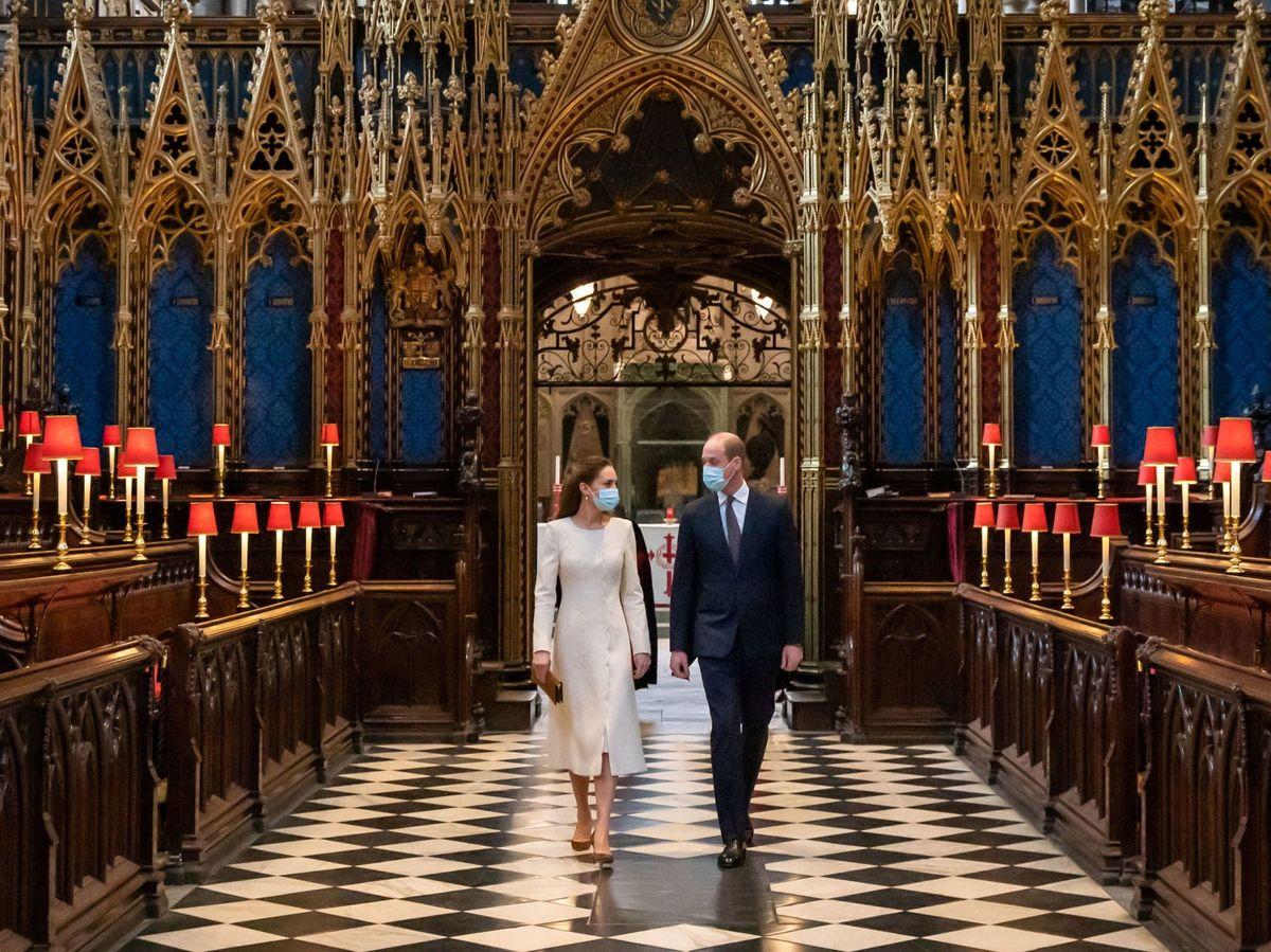 Foto: Los duques de Cambridge, este martes en la abadía de Westminster. (Reuters)