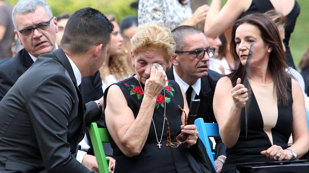 Foto: María González, madre de David Delfín, durante el acto en Madrid. (Gtres)