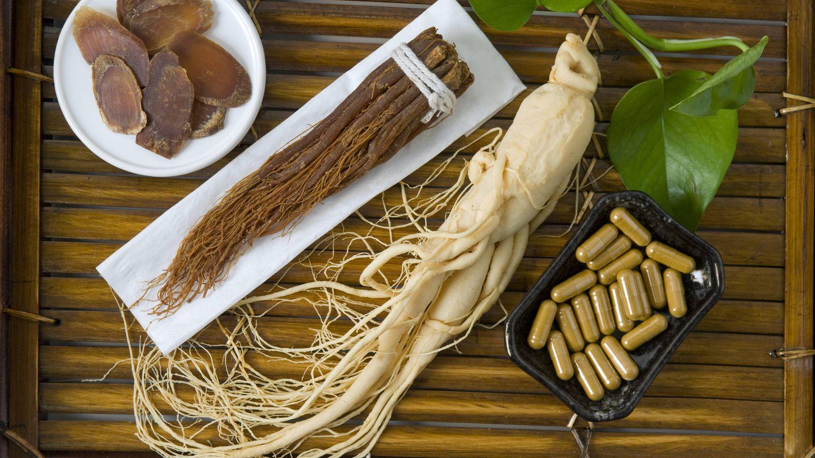Foto: Ginseng, en raíz, rebanadas y cápsulas. (iStock)