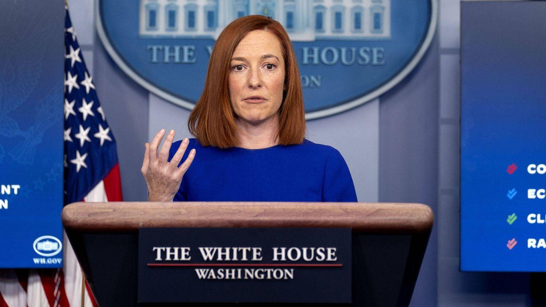 La secretaria de Prensa de la Casa Blanca, Jen Psaki. (EFE)