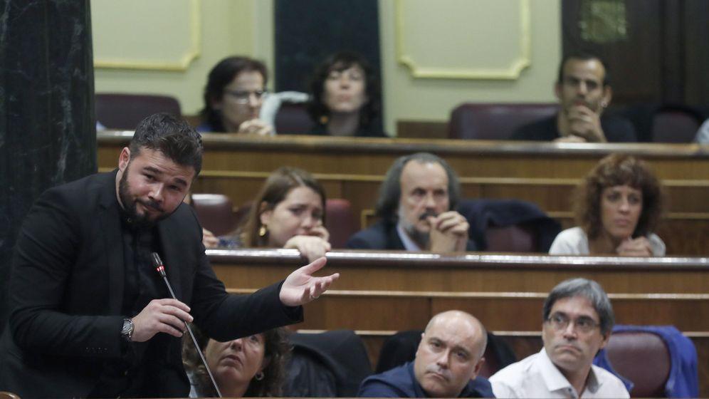 Foto: El portavoz adjunto de ERC en el Congreso, Gabriel Rufián, en una imagen de archivo. (Efe)