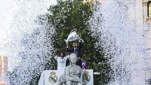 Así fue la celebración del Real Madrid con Carmena, Cifuentes y Cibeles