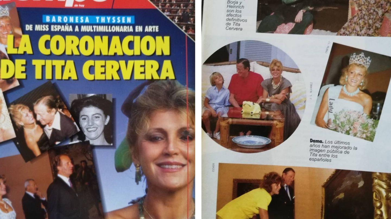 Portada e interior de la revista 'Tiempo'.