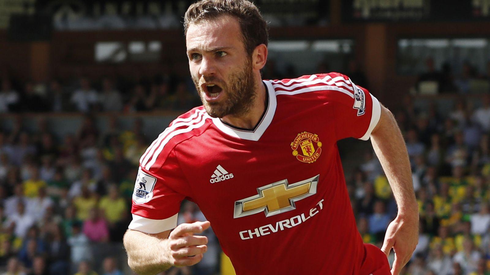 Foto: Juan Mata celebra un gol con el Manchester United. (Reuters)