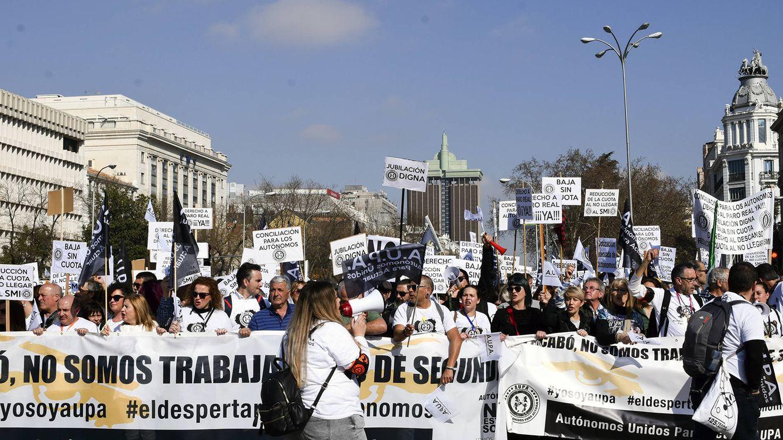 Primera marcha de autónomos de todos los sectores en Madrid: ¿Dónde está mi baja?