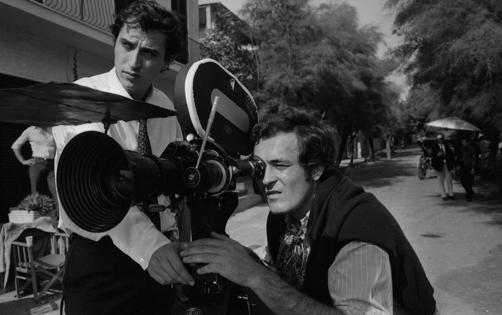 Foto: Storaro y Bertolucci en el rodaje de 'El conformista' (1969)
